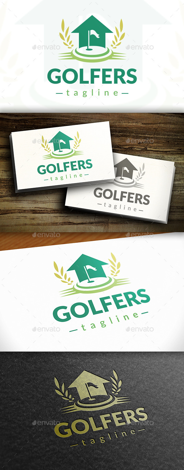 GraphicRiver Golf House Logo 11121861