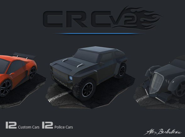 3DOcean CRCV2 Cartoon Race Car V2 11121896