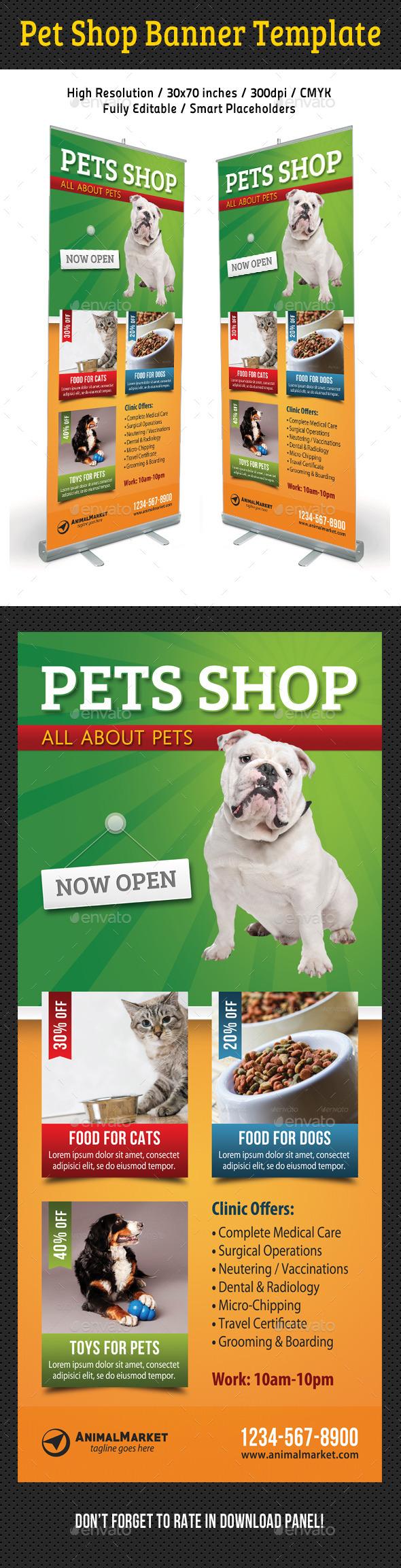 GraphicRiver Pet Shop Banner Template 11121879
