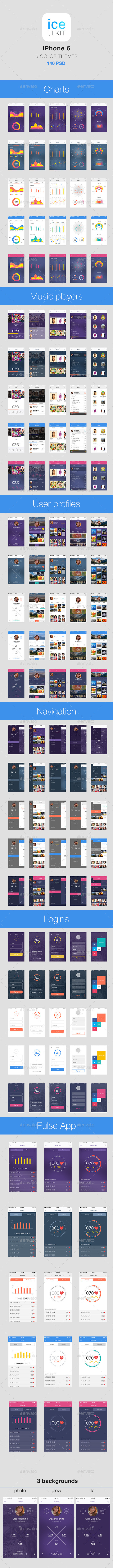 GraphicRiver Fresh Mobile UI 11091147