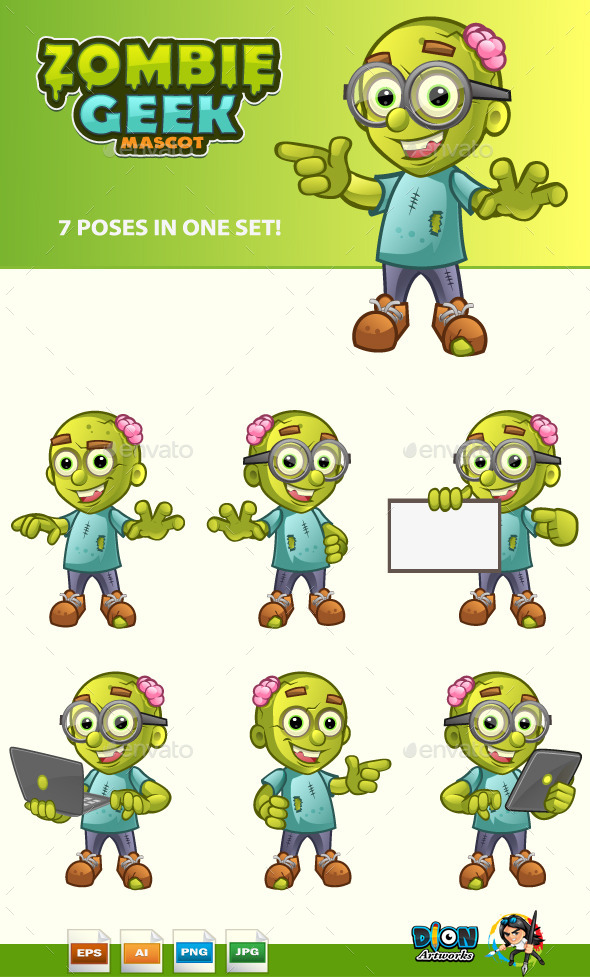 GraphicRiver Zombie Geek Mascot 11122009