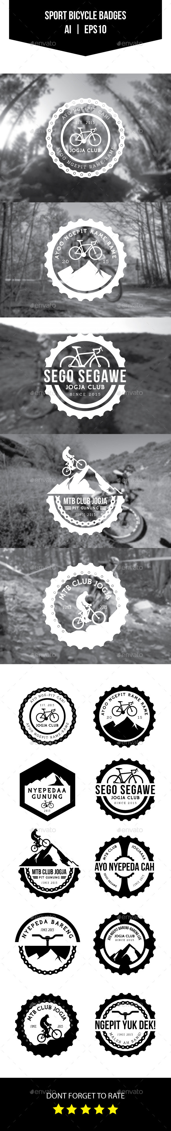 GraphicRiver Sport Bicycle Badges 11097441
