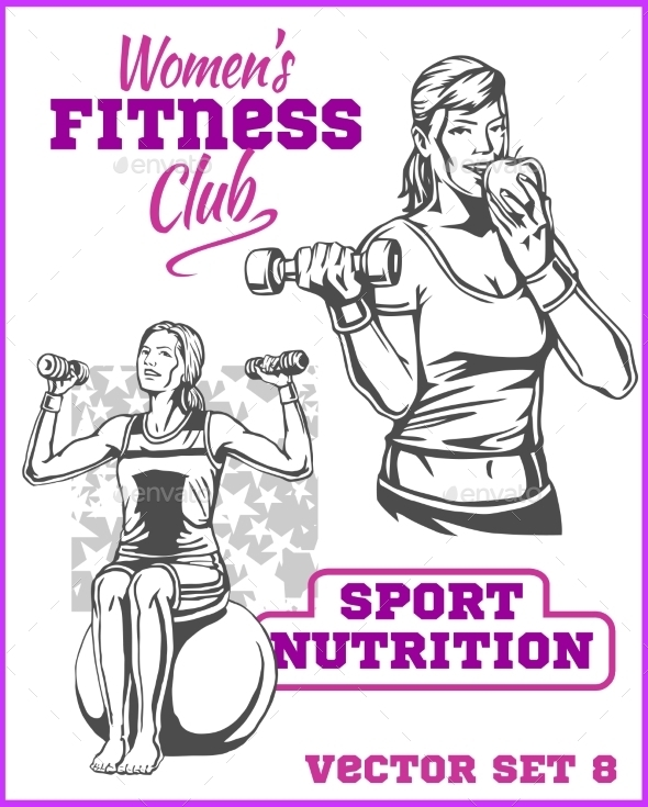 GraphicRiver Healthy Fitness Girls 11122507