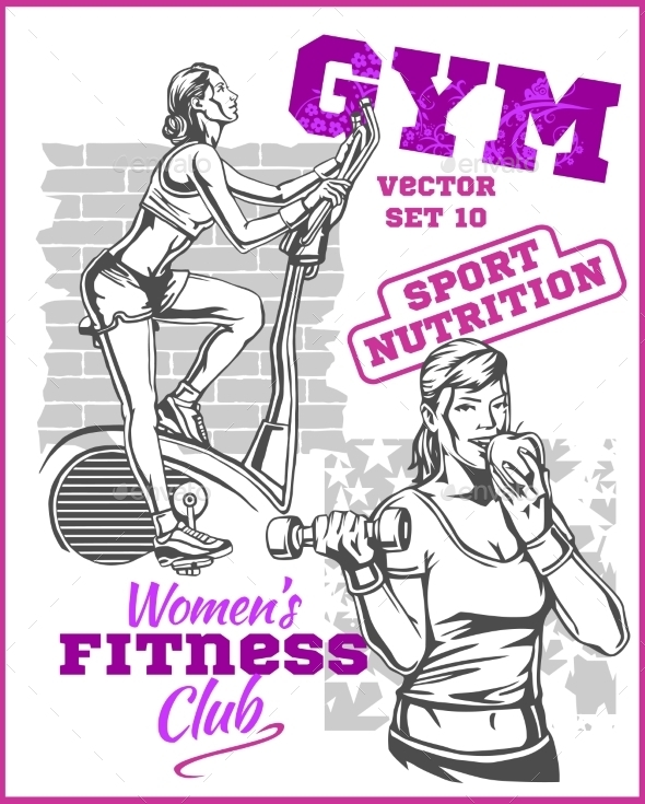 GraphicRiver Healthy Fitness Girls 11122572