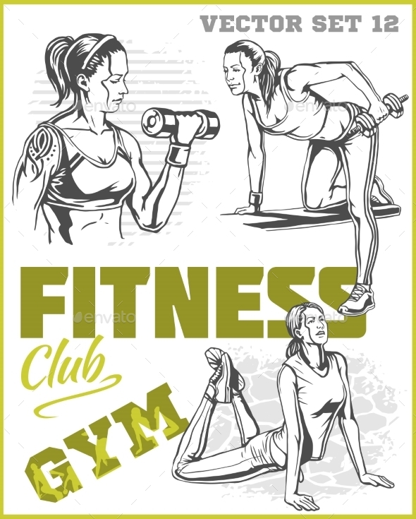 GraphicRiver Healthy Fitness Girls 11122573