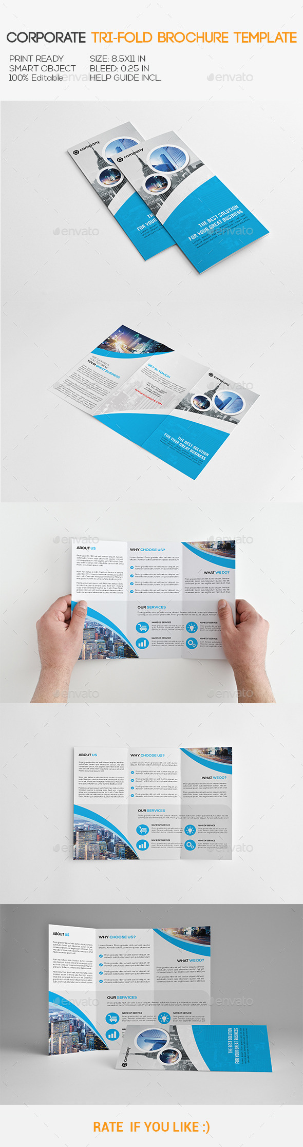 GraphicRiver Corporate Tri-Fold Brochure 11122596