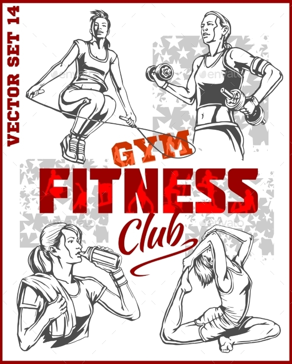 GraphicRiver Healthy Fitness Girls 11122597
