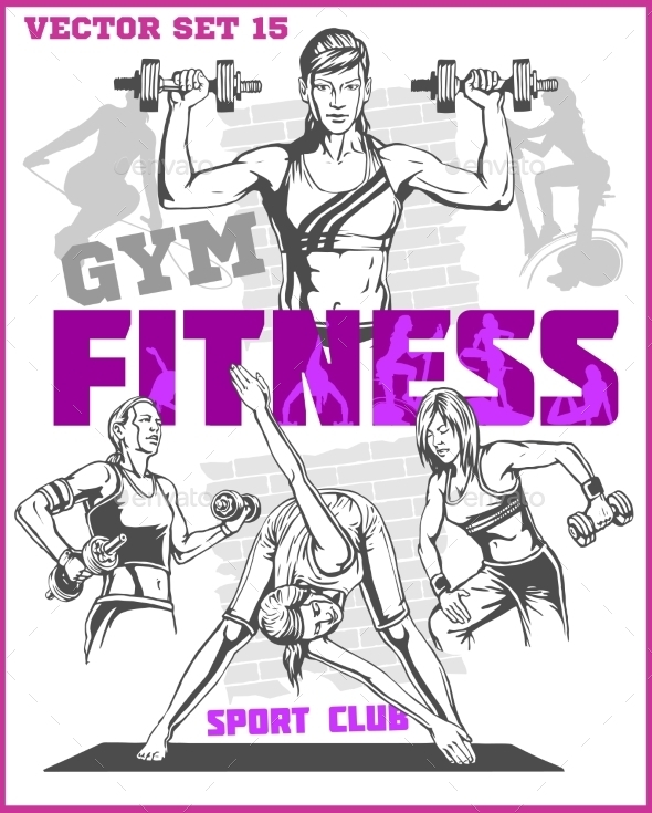 GraphicRiver Healthy Fitness Girls 11122598