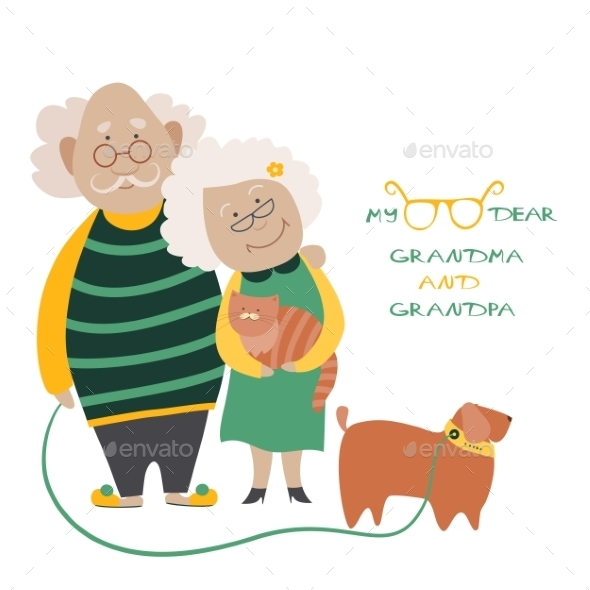 GraphicRiver Elderly Couple With Their Dog 11122830