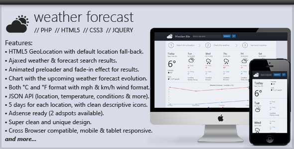 PHP Weather Forecast Script