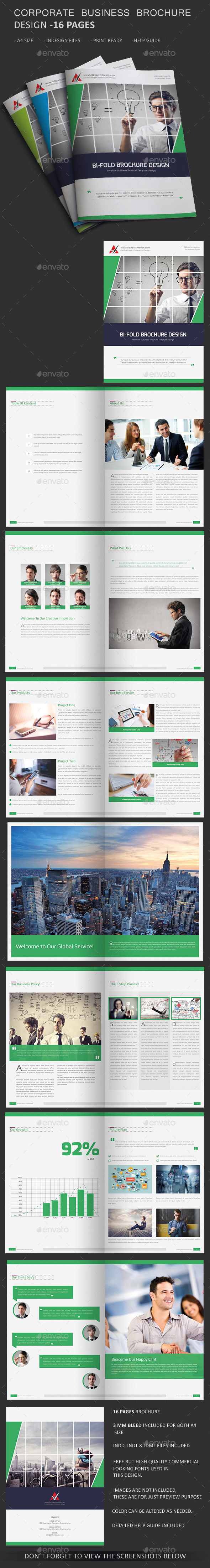 GraphicRiver Corporate Business Agency Bi-fold Brochure 16 P 11123029