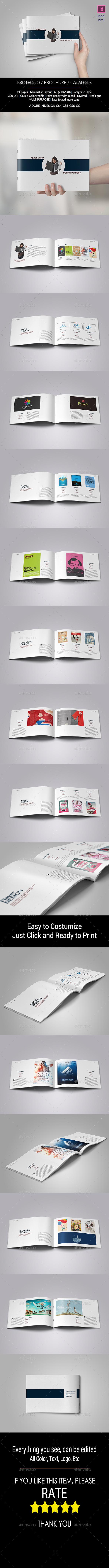 GraphicRiver Minimal Portfolio A5 11123031