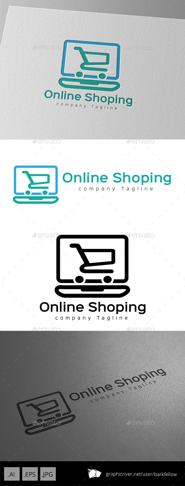 GraphicRiver Online Shopping Cart Logo Design 11123224