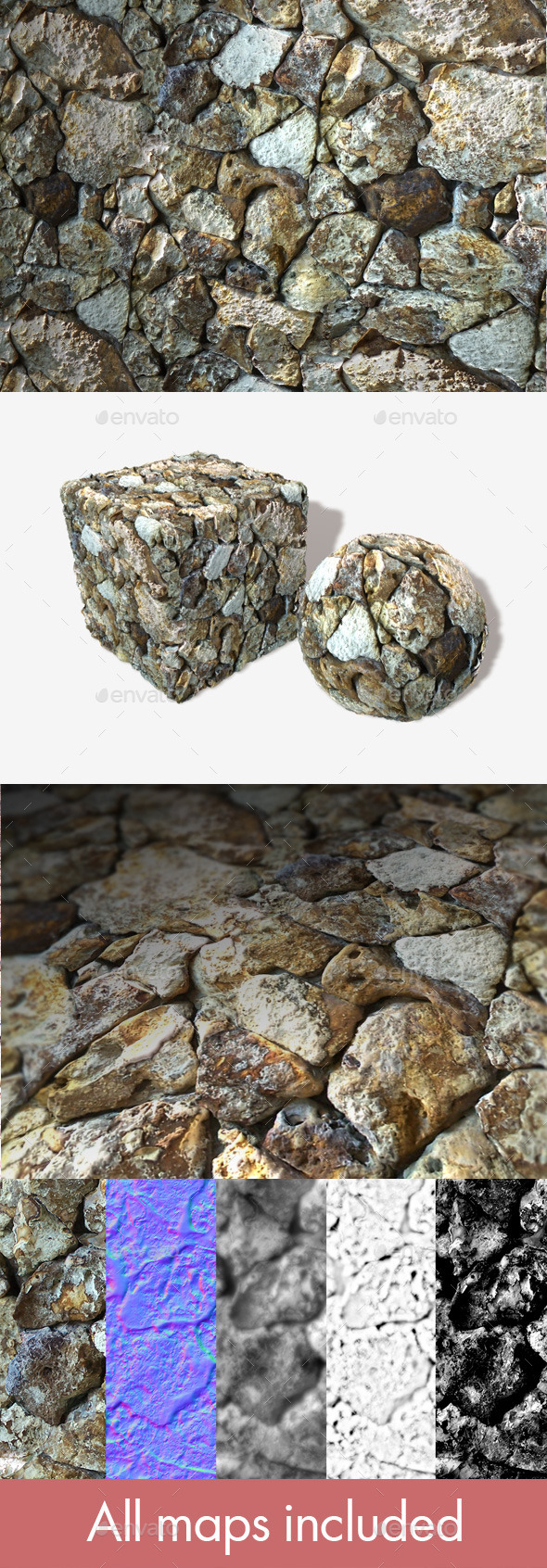 3DOcean Rough Ocean Rocks Seamless Texture 11123255