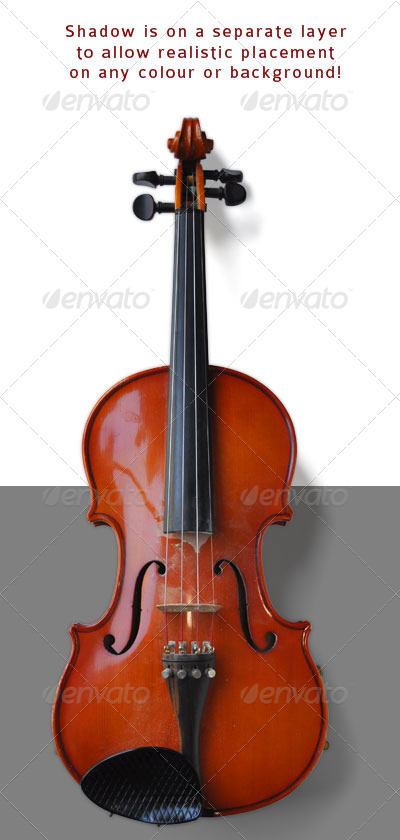 Violin - Activities & Leisure Isolated Objects