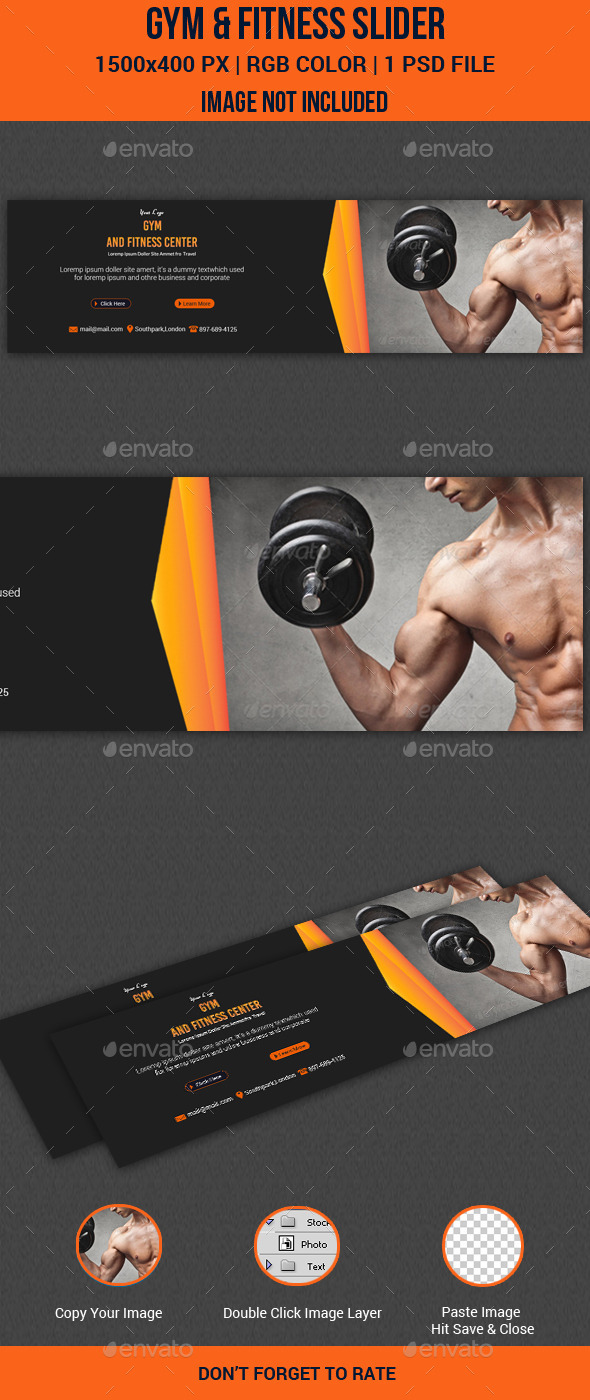 GraphicRiver Gym & Fitness Slider 11123850