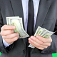 Businessman Takes Money from Pocket and Counting - VideoHive Item for Sale