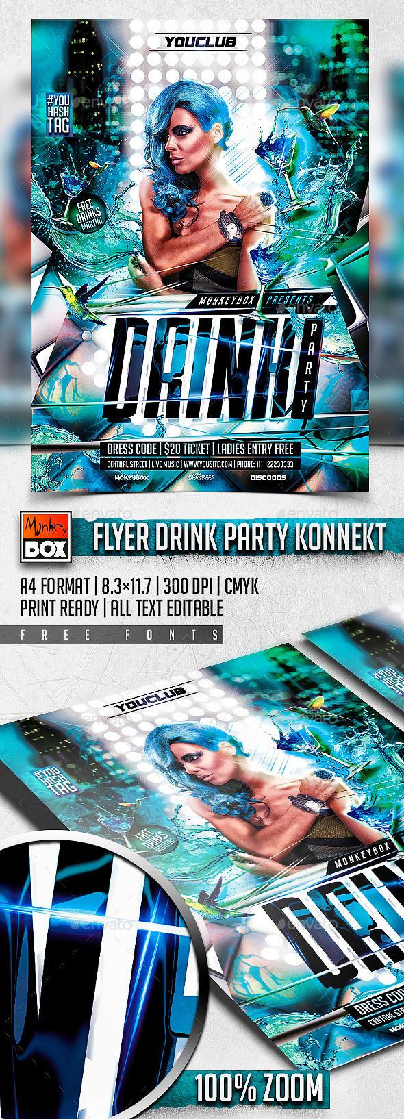 GraphicRiver Flyer Drink Party Konnekt 11124163