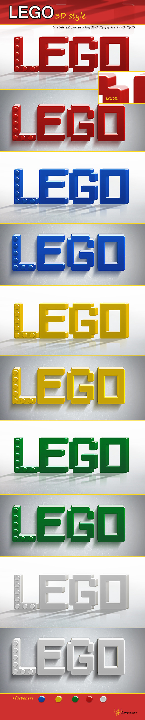GraphicRiver Lego 3D Styles 11099454