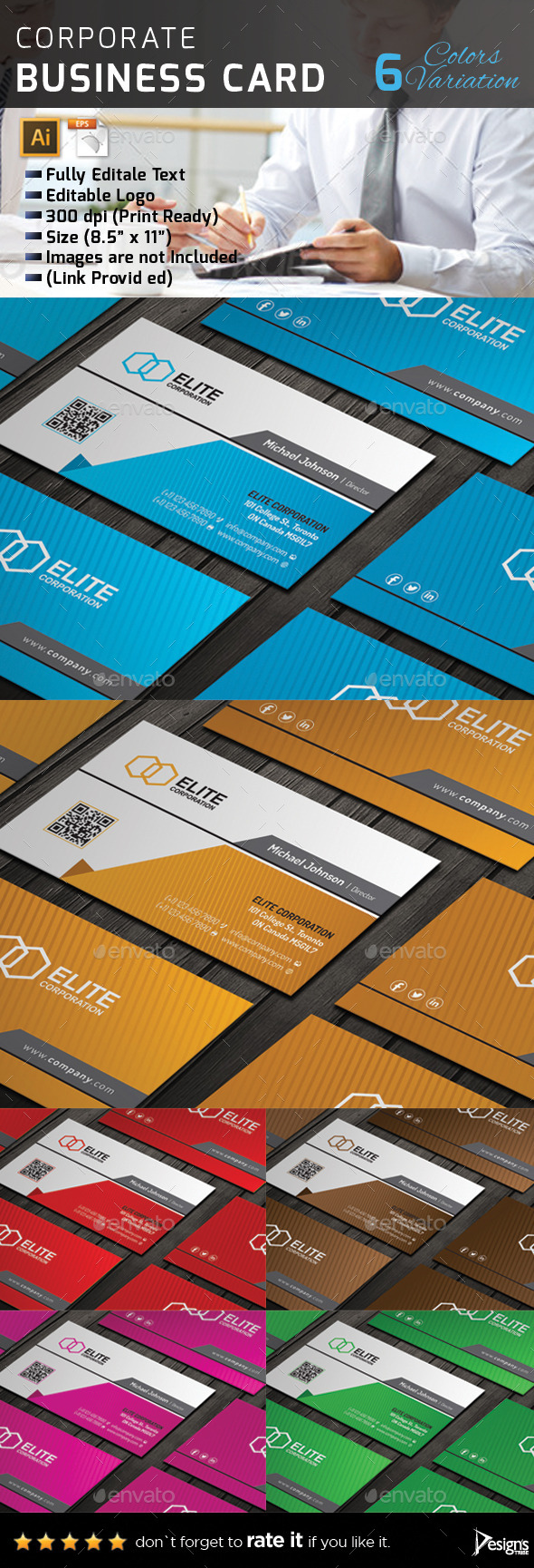 GraphicRiver Business Card 140 11124233