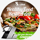 Healthy Restaurant Web & Facebook Banners Ads - GraphicRiver Item for Sale