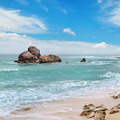 ocean, picturesque beach and blue sky - PhotoDune Item for Sale