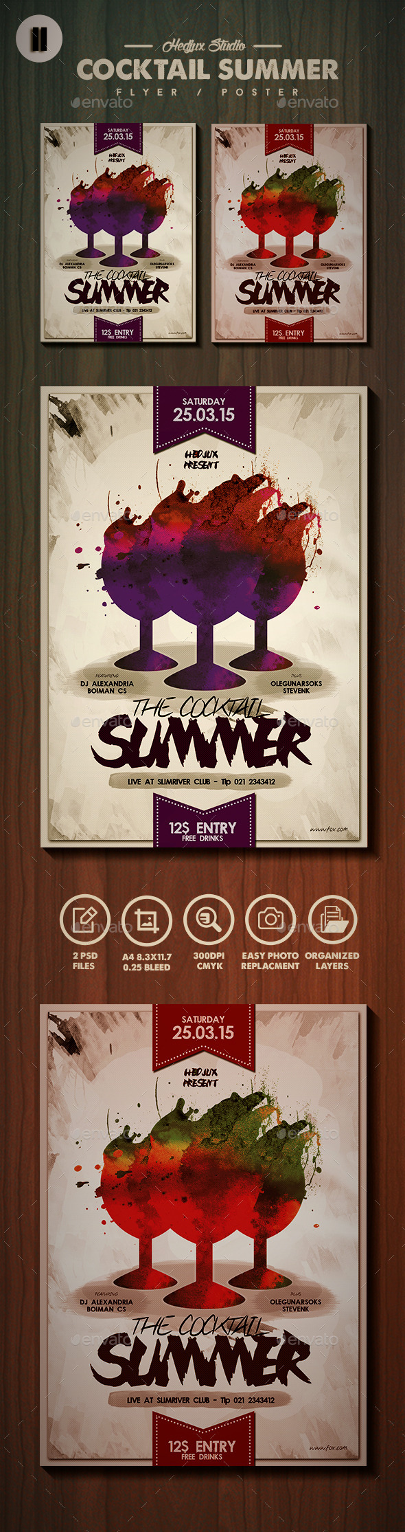 GraphicRiver The Summer Cocktail Flyer Poster 11125077