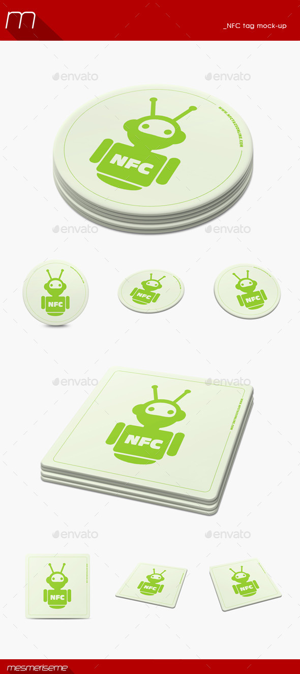 GraphicRiver NFC Tag Mock-up 11125140