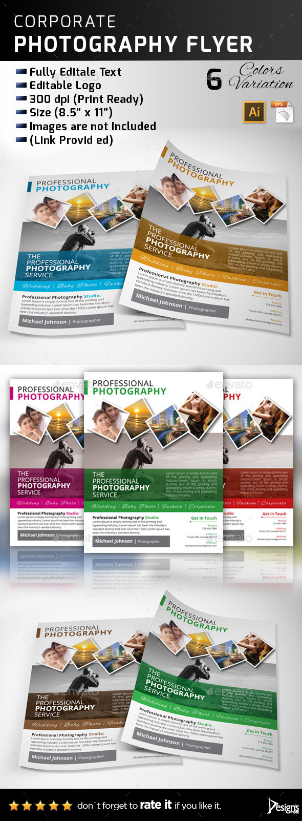 GraphicRiver Professional Photography Flyer 11125329