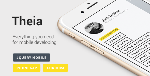 ThemeForest Theia Multipurpose jQuery Mobile Template 11125404