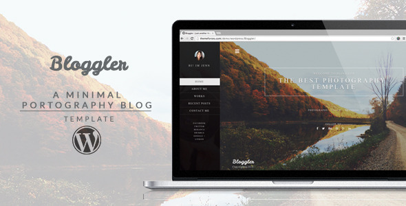 ThemeForest Bloggler Creative WordPress Blog 11059372