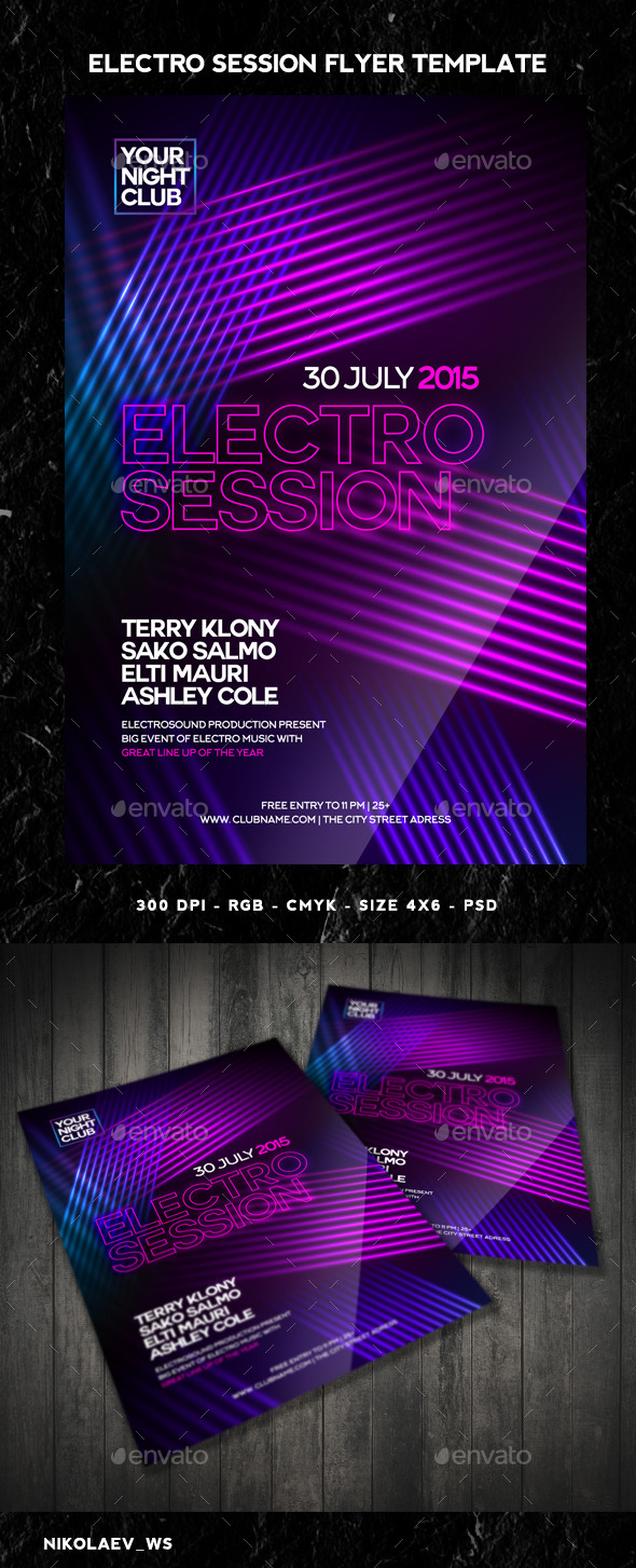 GraphicRiver Electro Session Flyer 11125635