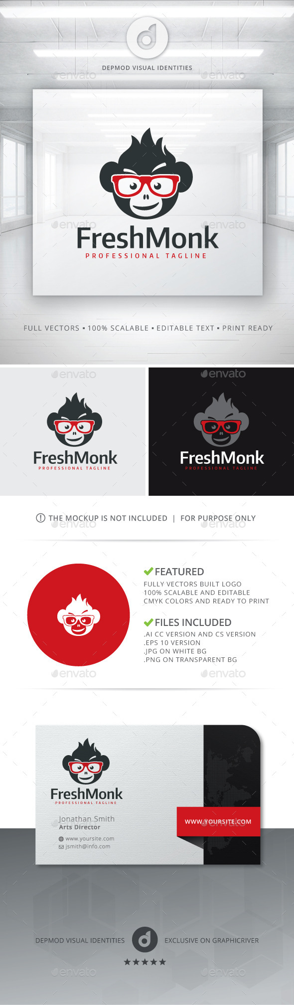 GraphicRiver Fresh Monk Logo 11125630