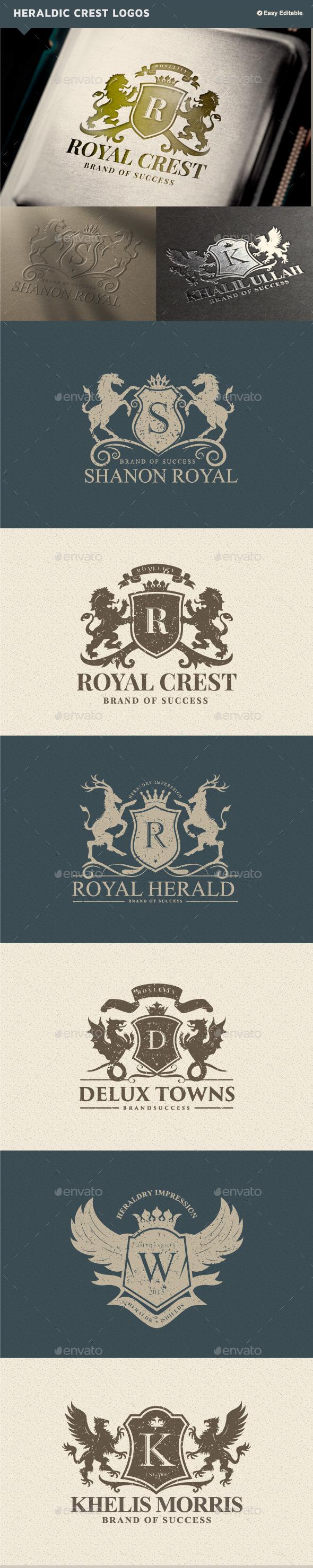 GraphicRiver Luxury Heraldic Crest Logos 11125655