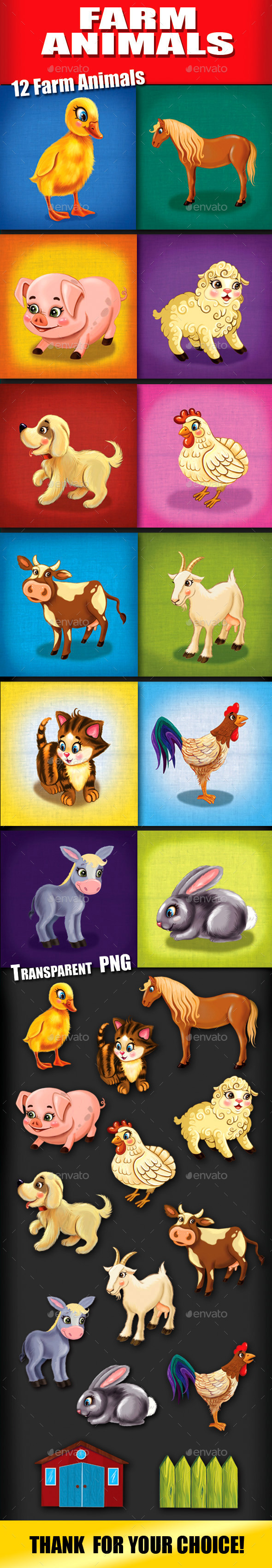 GraphicRiver Farm Animals 11017437