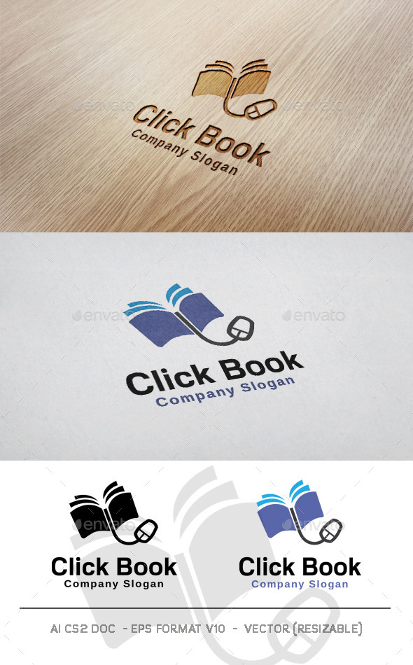 GraphicRiver Click Book Logo 11125667