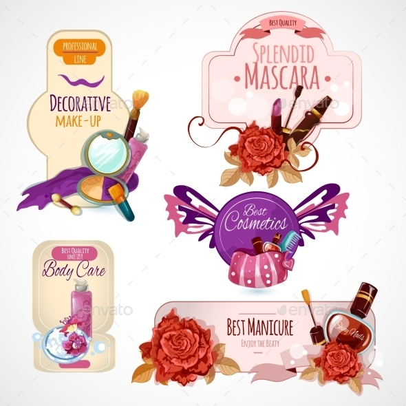GraphicRiver Cosmetics Label Set 11125749