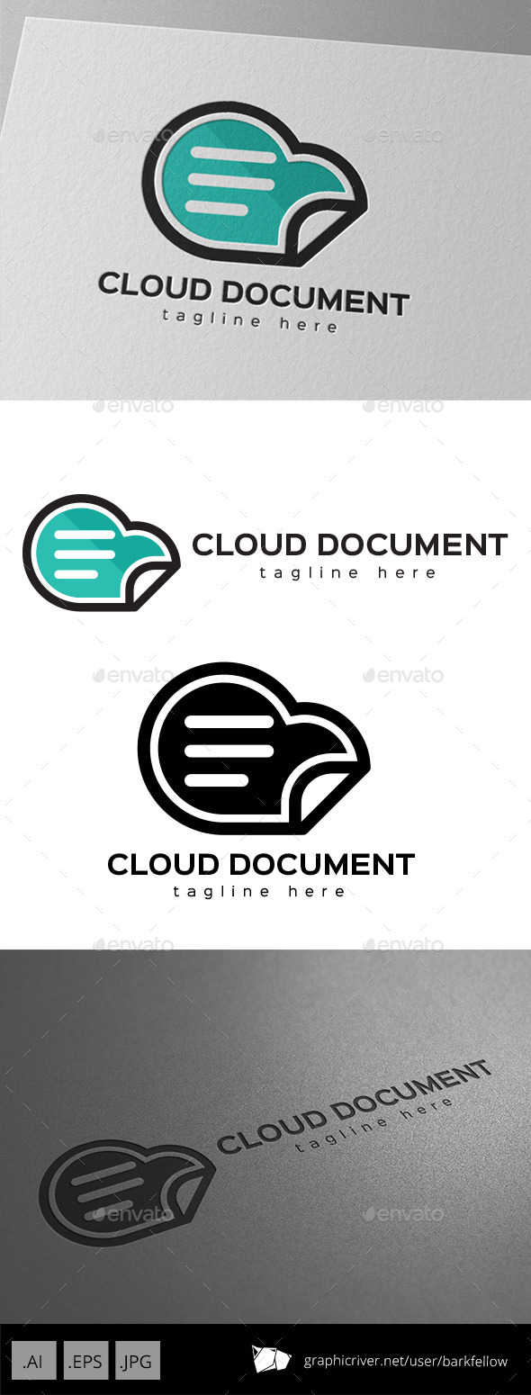 GraphicRiver Cloud Document Storage Logo 11125811