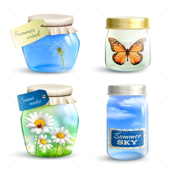 GraphicRiver Summer Jar Set 11125876