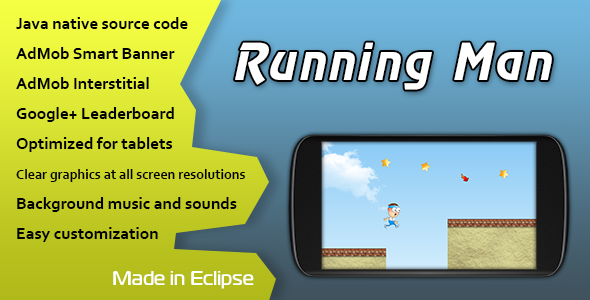 CodeCanyon Running Man with AdMob and Leaderboard 11125883