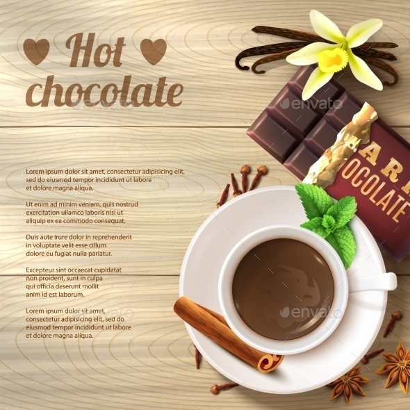 GraphicRiver Hot Chocolate Background 11125934