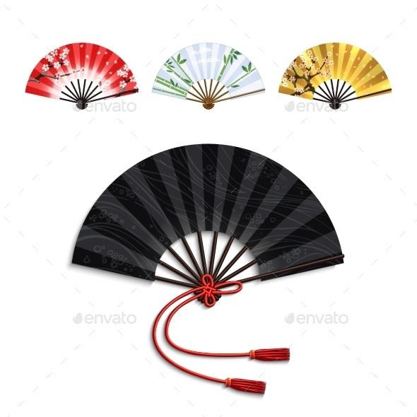 GraphicRiver Folding Fan Set 11125956