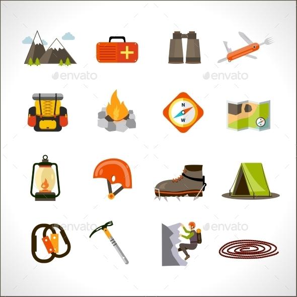 GraphicRiver Climbing Icons Set 11125997