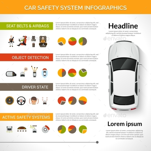 GraphicRiver Car Safety System Infographics 11126005
