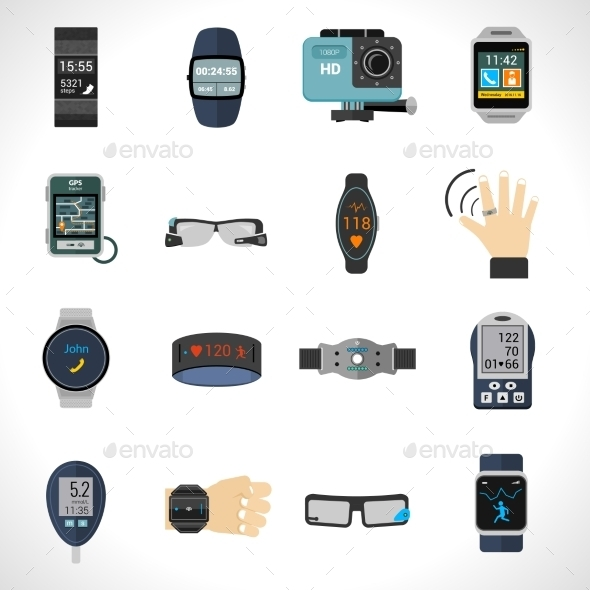 GraphicRiver Wearable Technology Icons 11126011