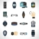 Wearable Technology Icons - GraphicRiver Item for Sale