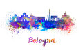 Bologna skyline in watercolor - PhotoDune Item for Sale