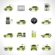Electric Car Icons - GraphicRiver Item for Sale