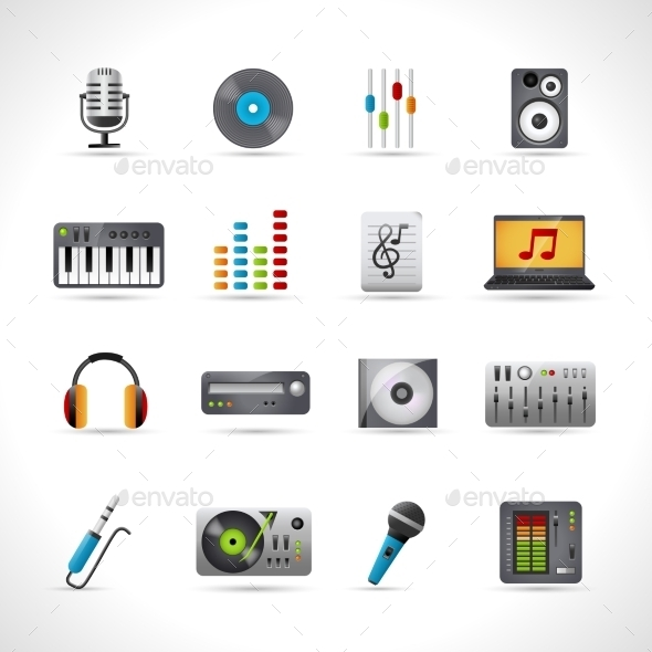 GraphicRiver Dj Icons Set 11126035