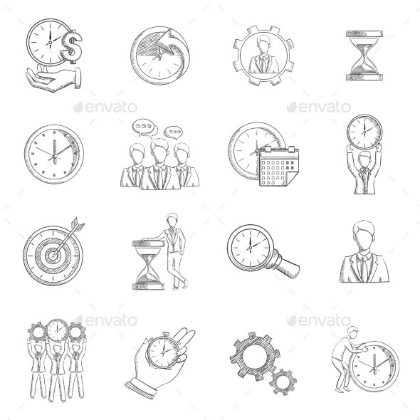 GraphicRiver Time Management Sketch 11126210
